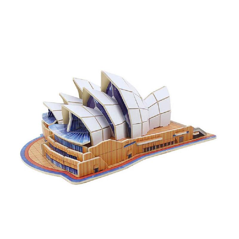 Robotime Jpd558 Sydney Opera House Mainan Blok dan Puzzle