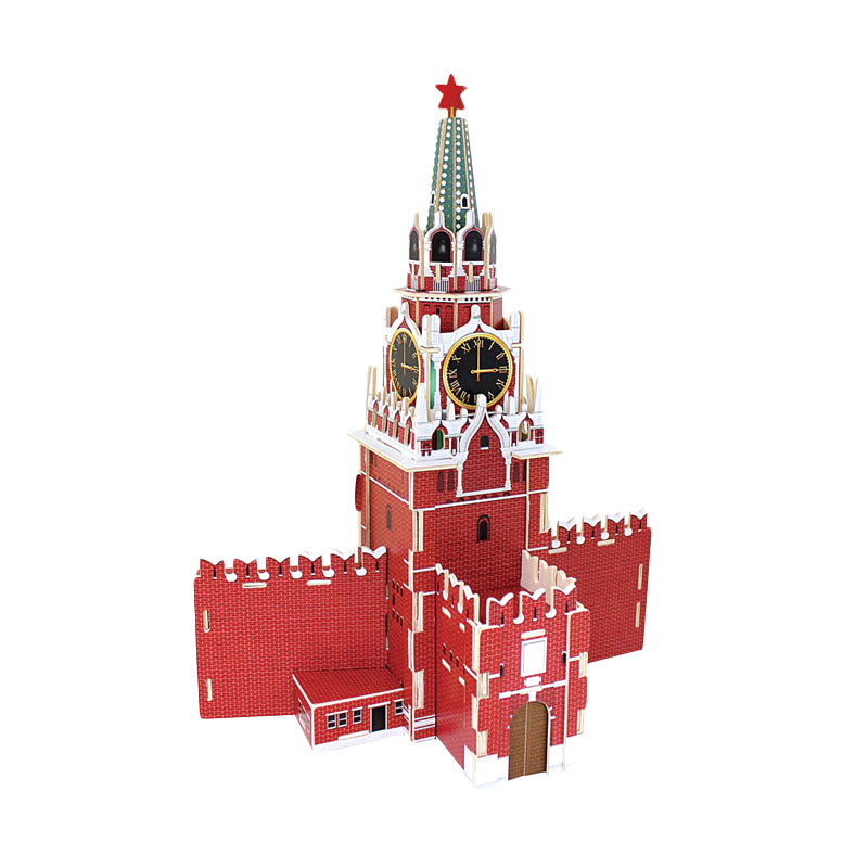 Robotime Jpd565 Spasskaya Tower Mainan Blok dan Puzzle
