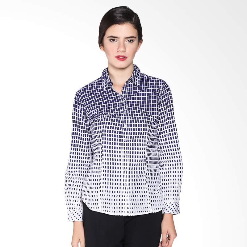 Rodeo Basic Shirt Motif 26.0607.2NV Atasan Wanita - Navy