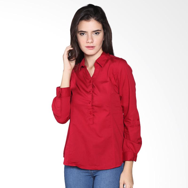 Rodeo Basic Shirt Polos 26.0502.RED Atasan Wanita - Red