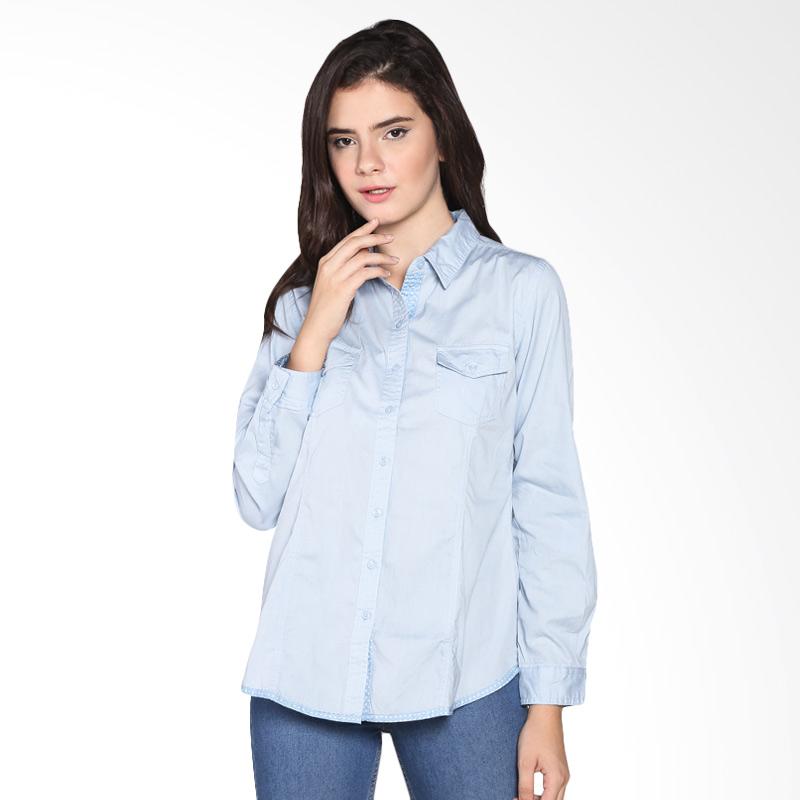 Rodeo Basic Shirt Polos 26.0606.BLU Atasan Wanita - Blue