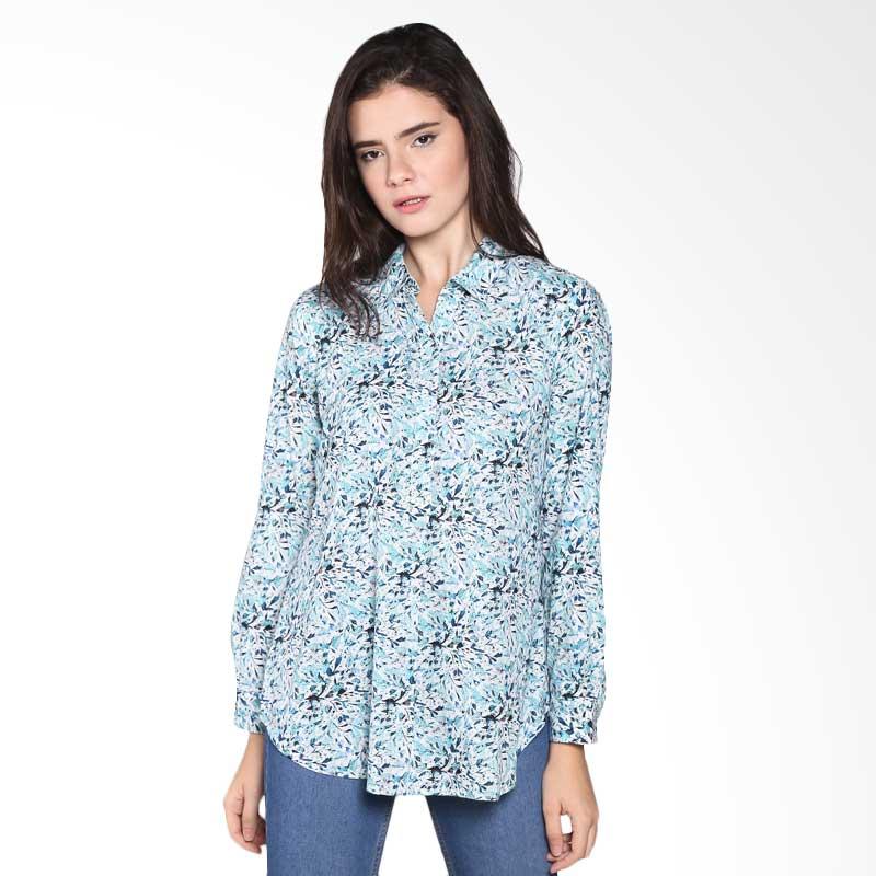 Rodeo Blouse shirt motif 26.0608.TQS Atasan Wanita - Tosca
