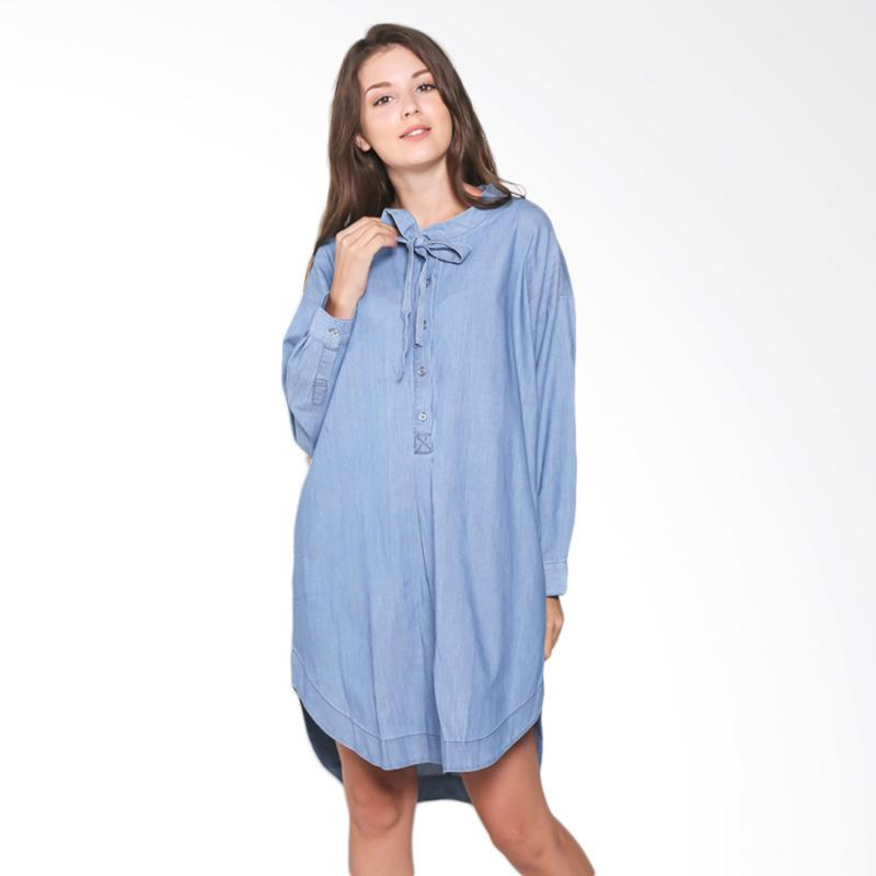 Rodeo Ladies Blouse Tunic Polos 217-0109-BLU Atasan Wanita - Blue