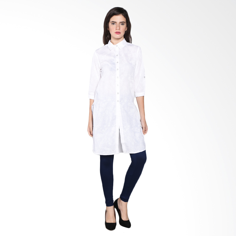 Rodeo Long Shirt Tunic 26.0617.WHT Atasan Wanita - White