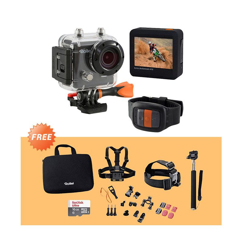 Promo Rollei 410 Action Cam + Free Rollei Set Outdoor + MicroSD 16 GB