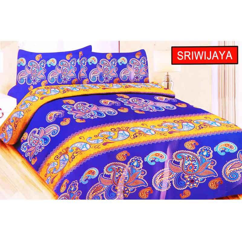 Ronaco Bonita Sriwijaya Set Sprei - Biru Tua