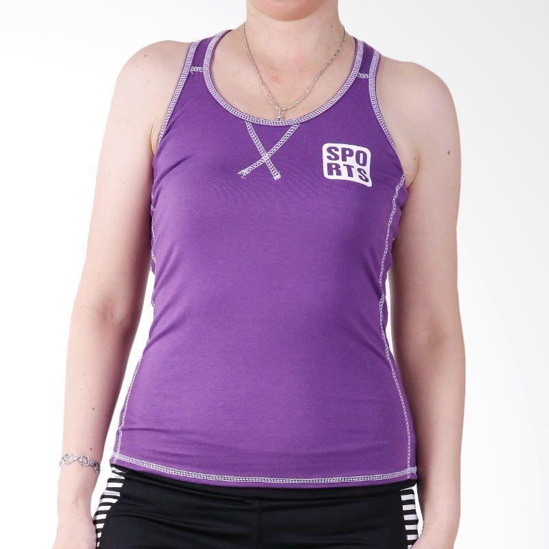 Ronaco T001A T-shirt Sport Baju Senam -  Ungu
