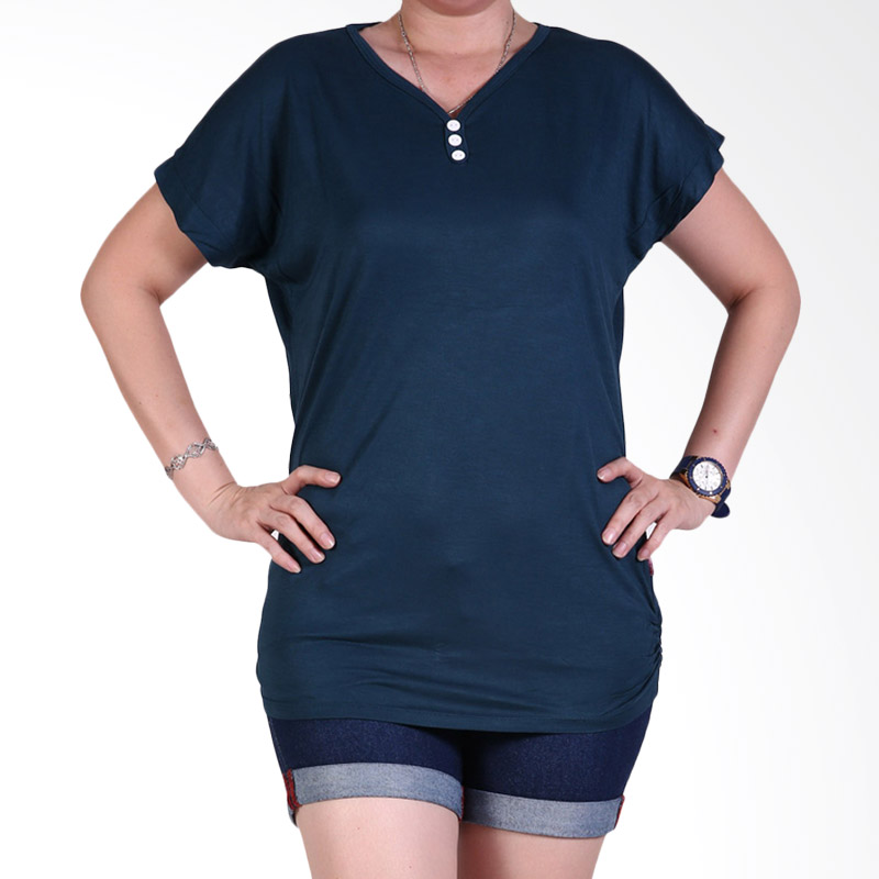 Ronaco 448 T-shirt Wanita - Navy