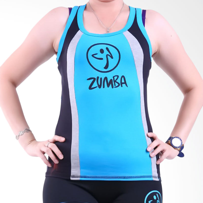 Ronaco Zumba T-AD02 Baju Senam Wanita - Biru
