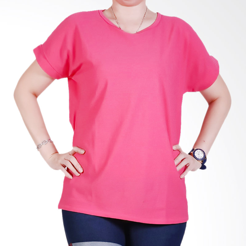 Ronaco Tshirt Women Type 446 Atasan Wanita - Hot Pink