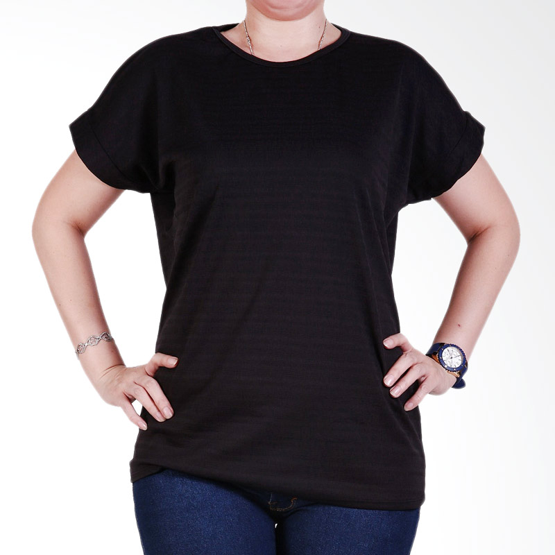 Ronaco Tshirt Women Type 447 Atasan Wanita - Hitam