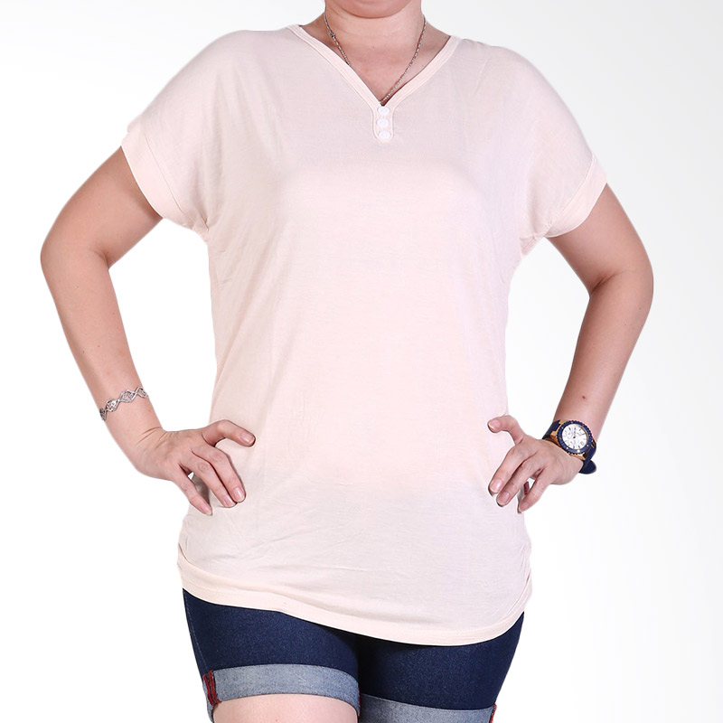 Ronaco Tshirt Women Type 448 Atasan Wanita - Krem