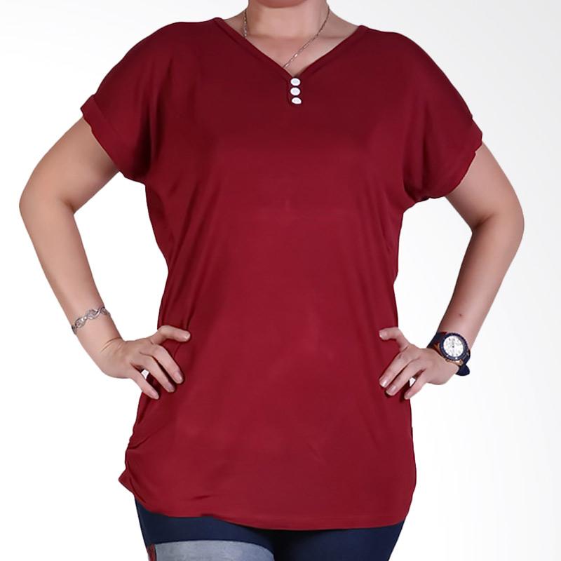 Ronaco Tshirt Women Type 448 Atasan Wanita - Merah