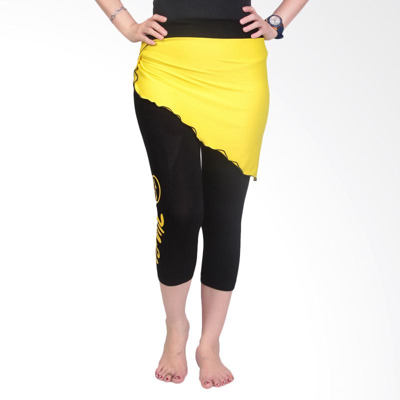 Ronaco T007 Celana Senam Wanita - Hitam kuning