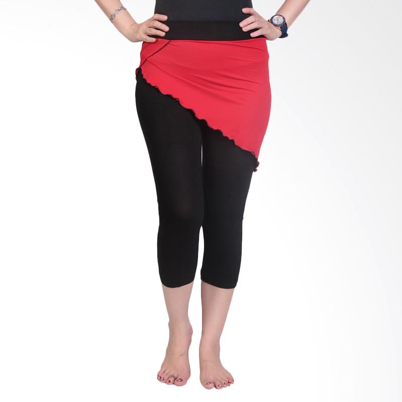 Ronaco T007 Celana Senam Wanita - Hitam Merah