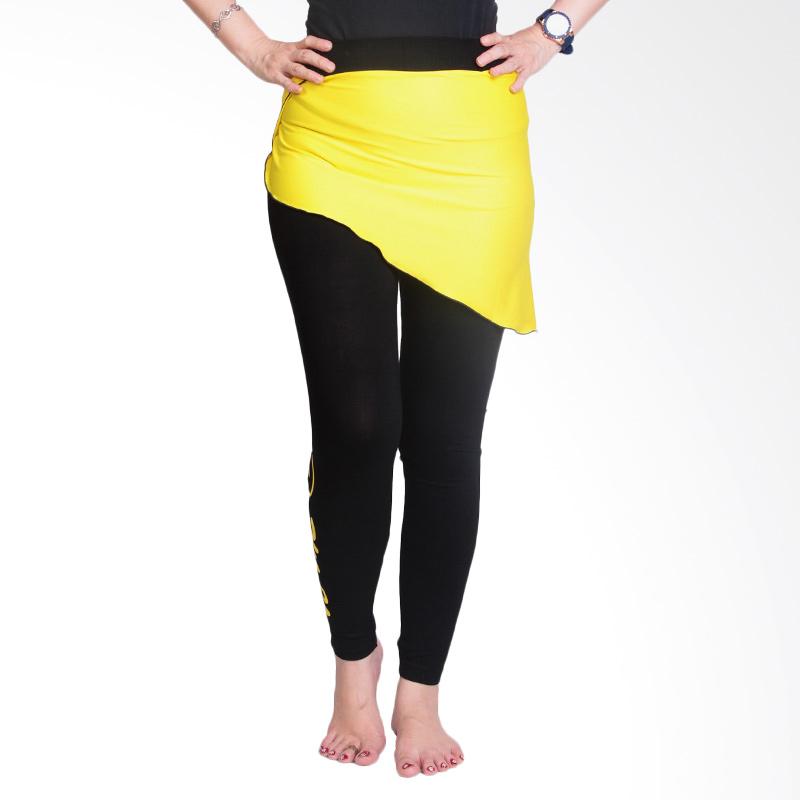 Ronaco T0071 Celana Senam Wanita - Hitam Kuning