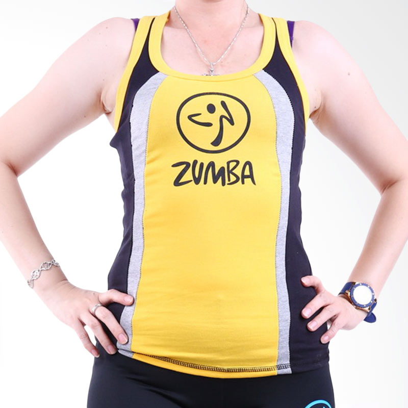 harga Ronaco Zumba T-AD02 Baju Senam Wanita - Kuning Blibli.com