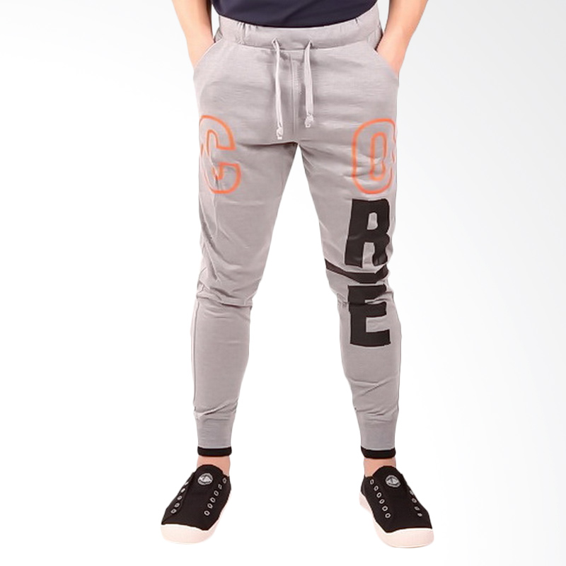 Ronco CJP - 01 Jogger Celana Panjang Pria - Abu Muda