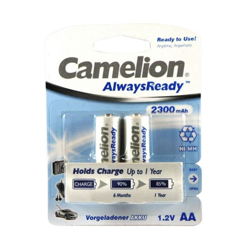 Camelion Always Ready BP white Baterai Kamera [2x 2300 mAh]