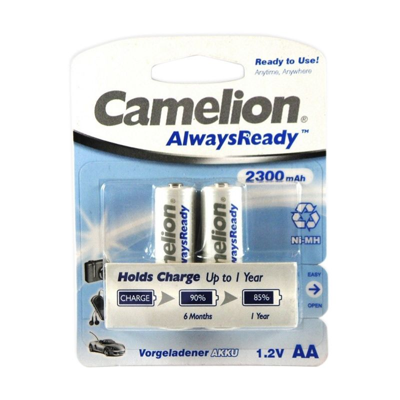 Camelion Rechargeable Always Ready AA Baterai Kamera [2300 mAh/2 Pcs]