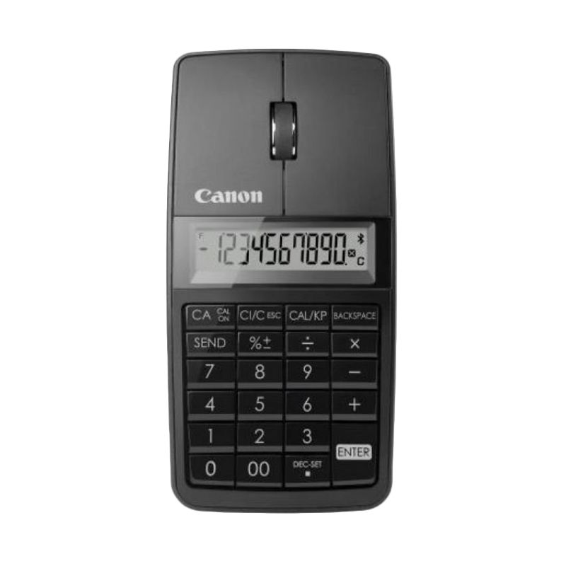 Canon Slim X Mark I 3 In 1 Hitam Bluetooth Mouse Kalkulator [10 Digit/1200 dpi]