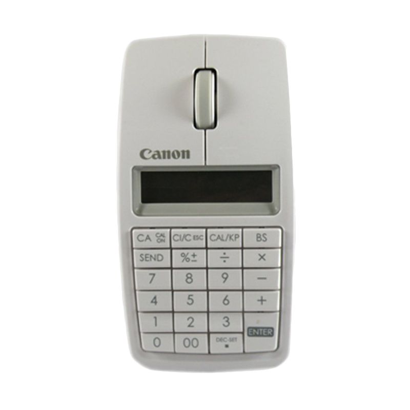 Canon Slim X Mark I 3 In 1 Putih Bluetooth Mouse Kalkulator [10 Digit/1200 dpi]