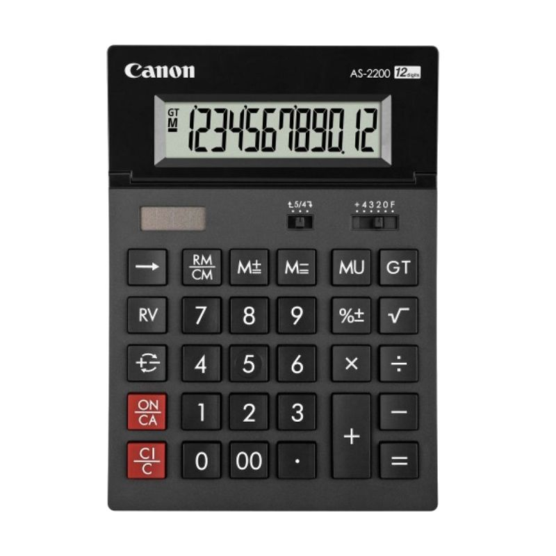 Canon Desktop AS 2200 Kalkulator [12 Digit]