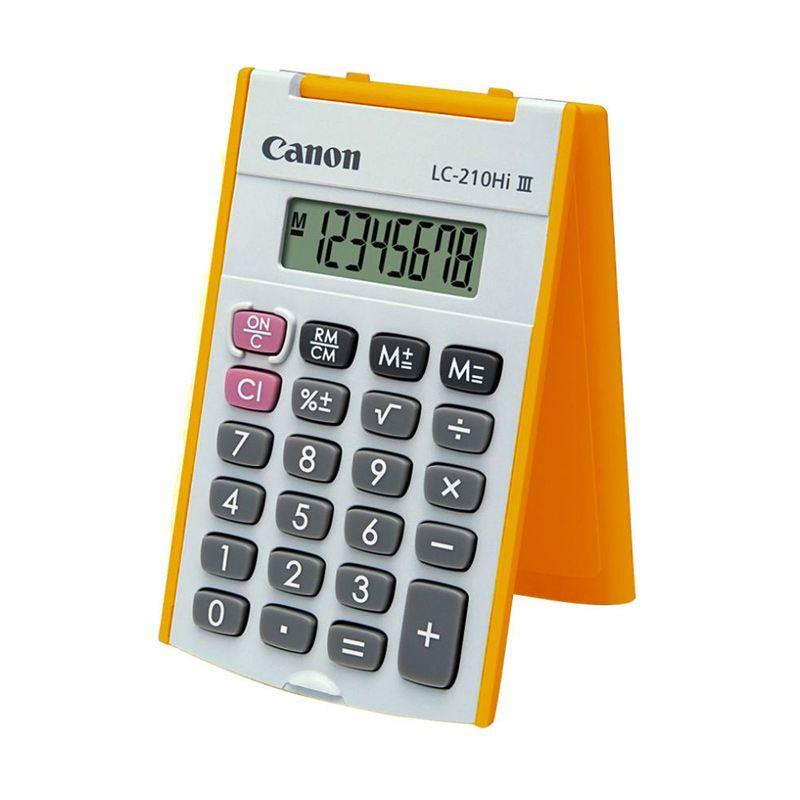 Canon Handheld LC-210Hi III Orange Kalkulator [8 Digit]