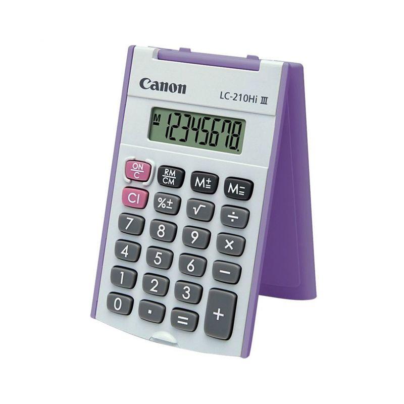 Canon Handheld LC-210Hi III Ungu Kalkulator [8 Digit]