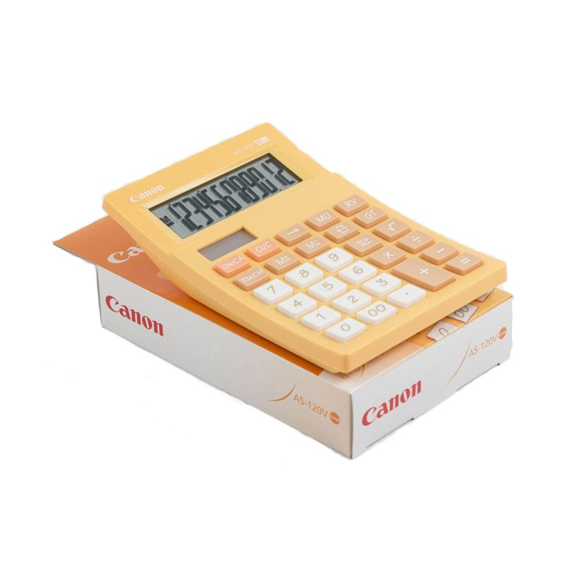 Canon Mini Desktop AS 120V Orange Kalkulator [12 Digit]