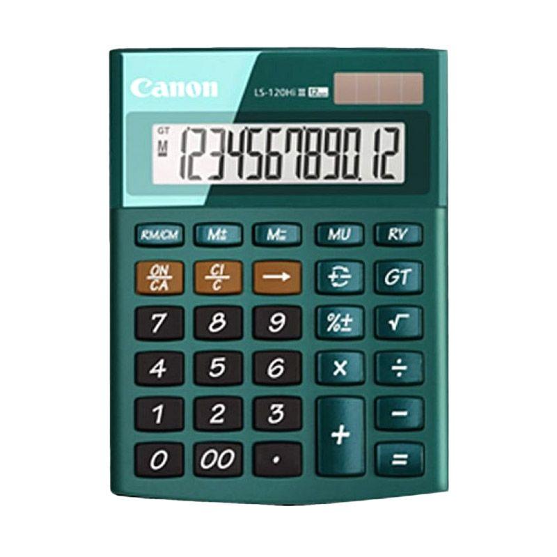 Canon Mini Desktop Glamorous Look LS 120 HI III Hijau Kalkulator