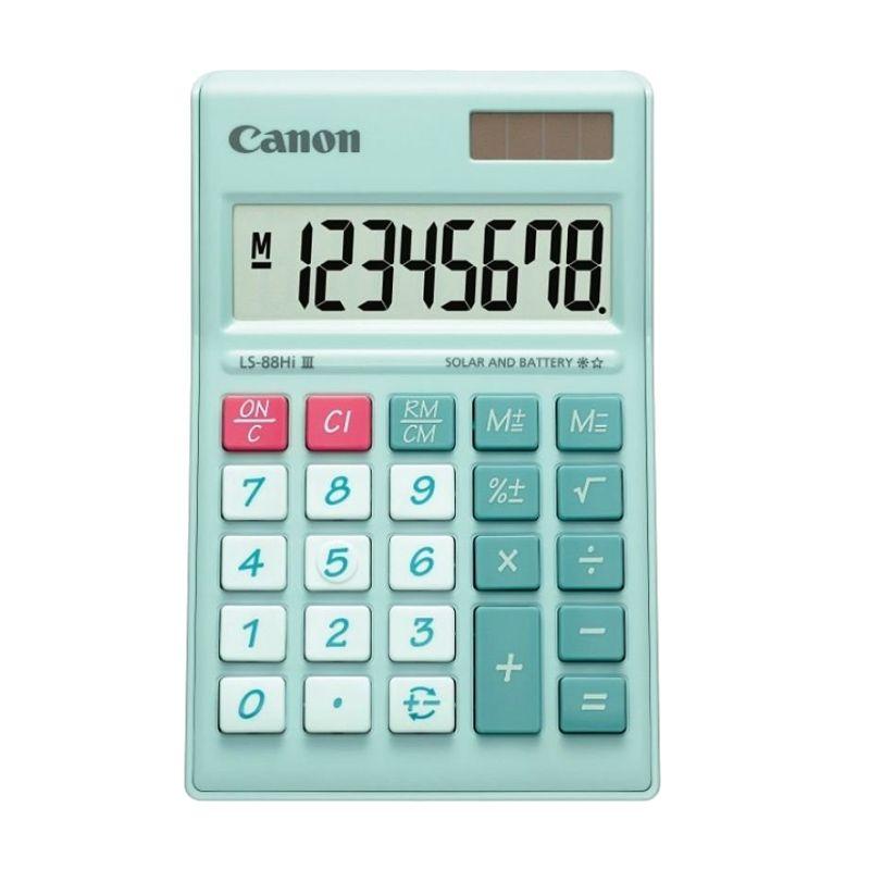 Canon Mini Desktop LS 88 HI III-PGR ASA HB Hijau Pastel Kalkulator [8 Digit]