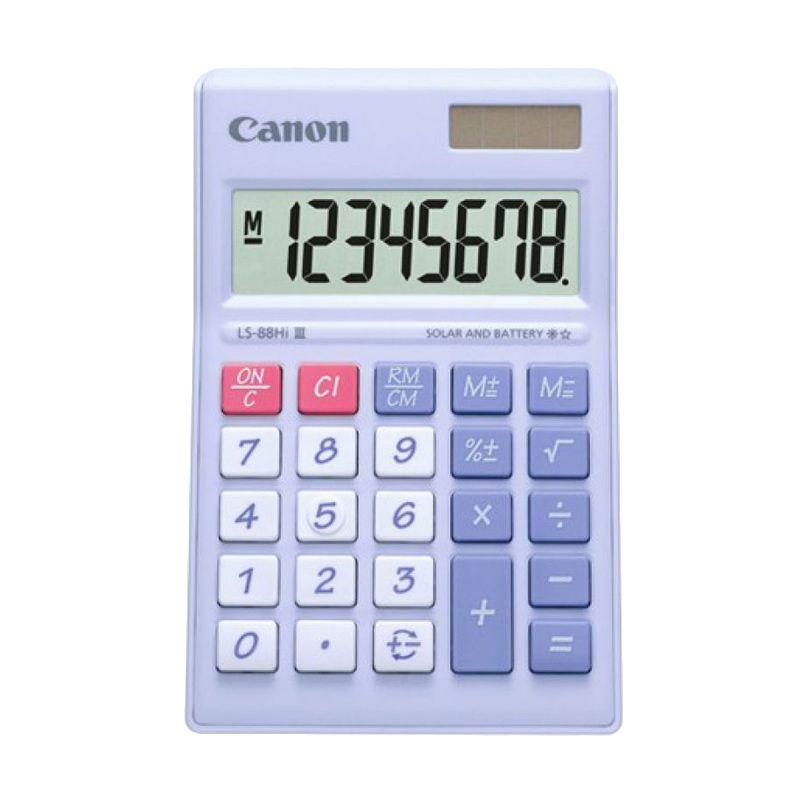Canon Mini Desktop LS 88 HI III-PPP ASA HB Ungu Pastel Kalkulator [8 Digit]