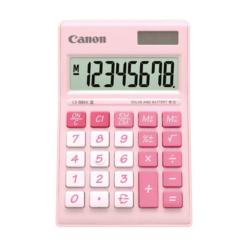 Canon Mini Desktop LS 88 HI III-PPK ASA HB Pink Pastel Kalkulator [8 Digit]