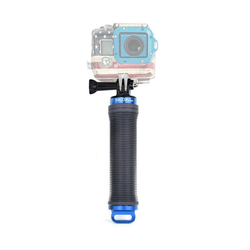 Neopine HG-3 Memory Storage Handgrip Biru Monopod for GoPro