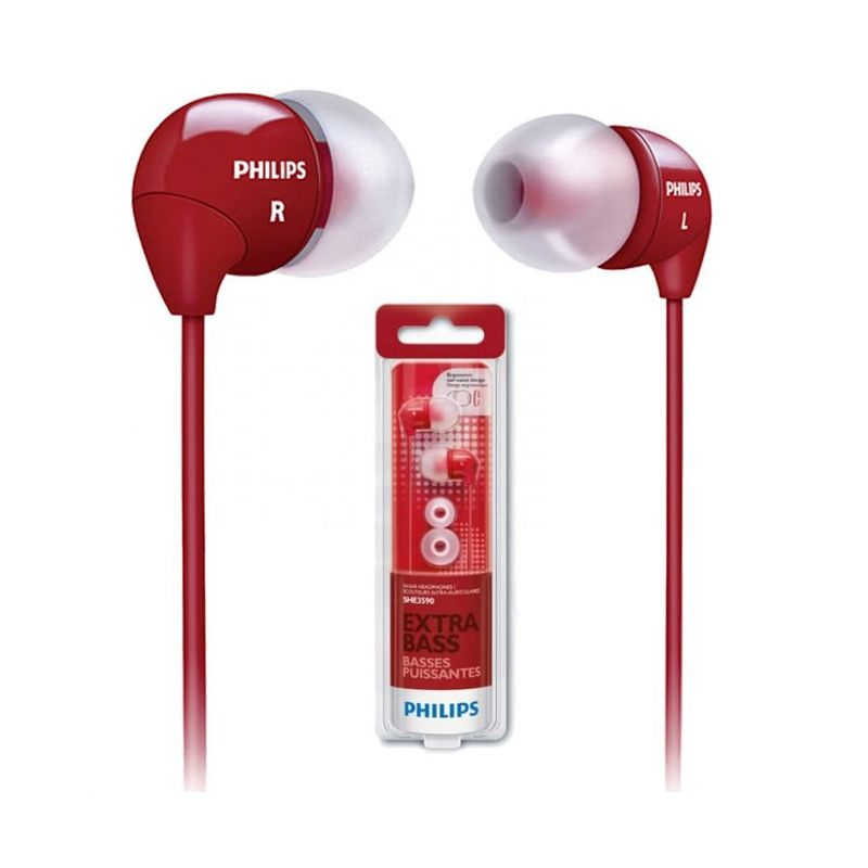Philips SHE 3590 Merah Earphone