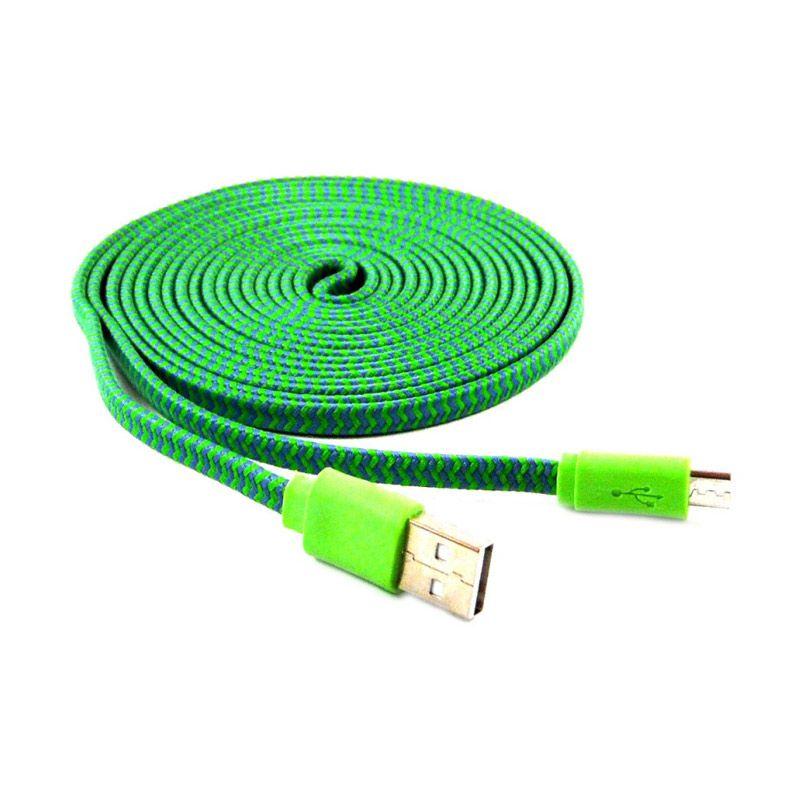 Rotamart Tali Sepatu Hijau Kabel Data [3 m]