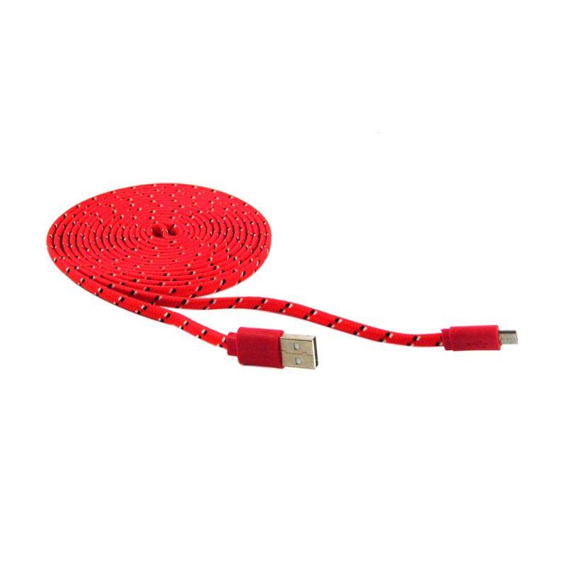 Rotamart Tali Sepatu Merah USB Data Cable [3 m]