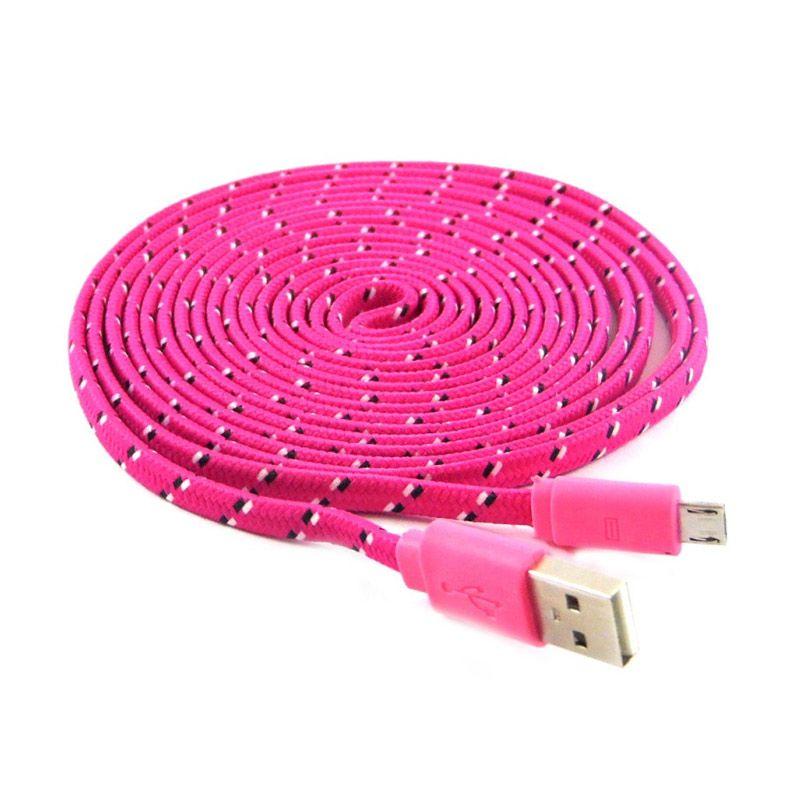 Rotamart Tali Sepatu Pink Kabel Data [3 m]