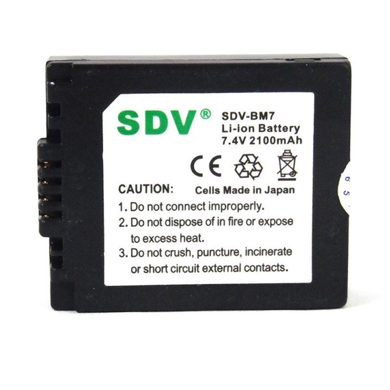 SDV BM7 S002 Baterai Kamera untuk Panasonic [2100 mAh]