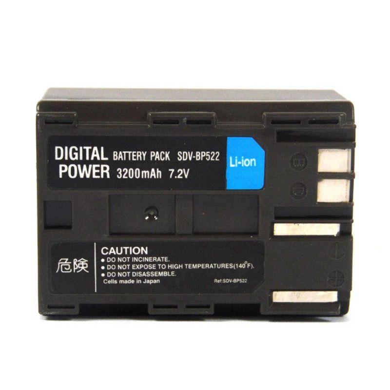 SDV Camcorder BP-522 Baterai untuk Canon [3200 mAh]