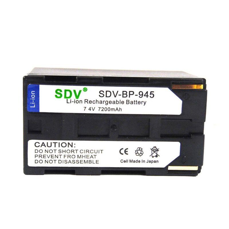 SDV Camcorder BP-945 Hitam Baterai untuk Canon [7200 mAh]