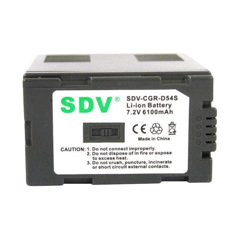 SDV CGR D54 VBD 29 Baterai Kamera untuk Panasonic [6600 mAh]