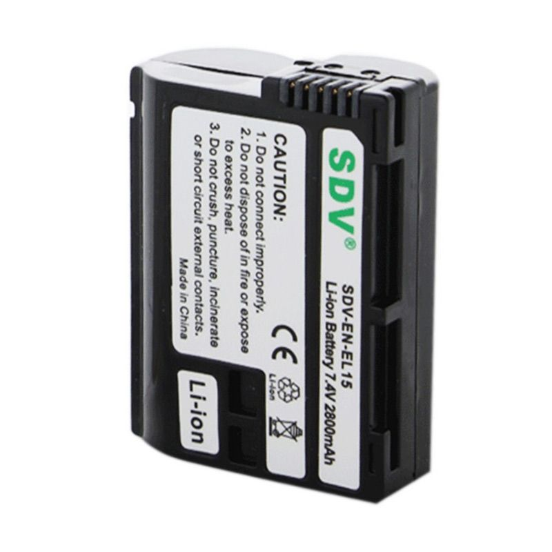 SDV EN-EL15 Baterai Kamera untuk Nikon [2800 mAh]