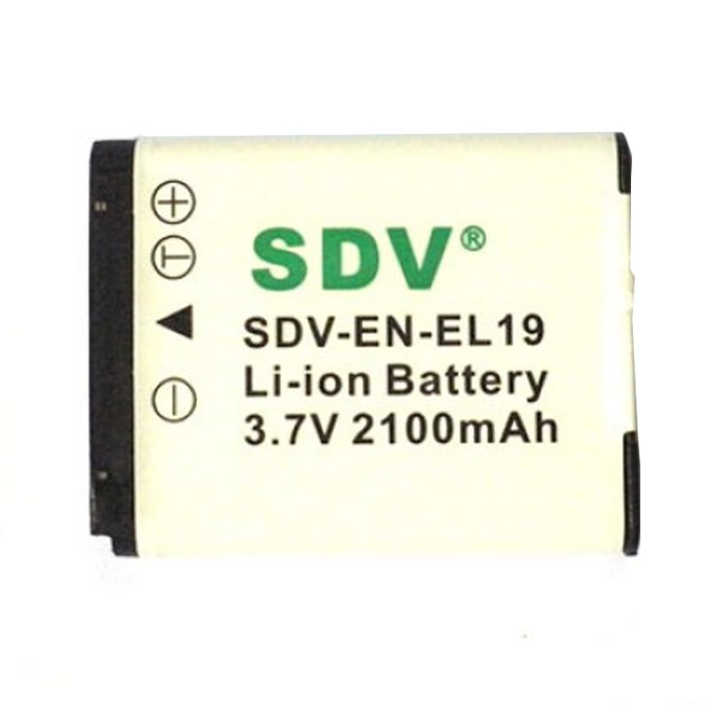 SDV EN-EL19 Baterai Kamera untuk Nikon [2100 mAh]