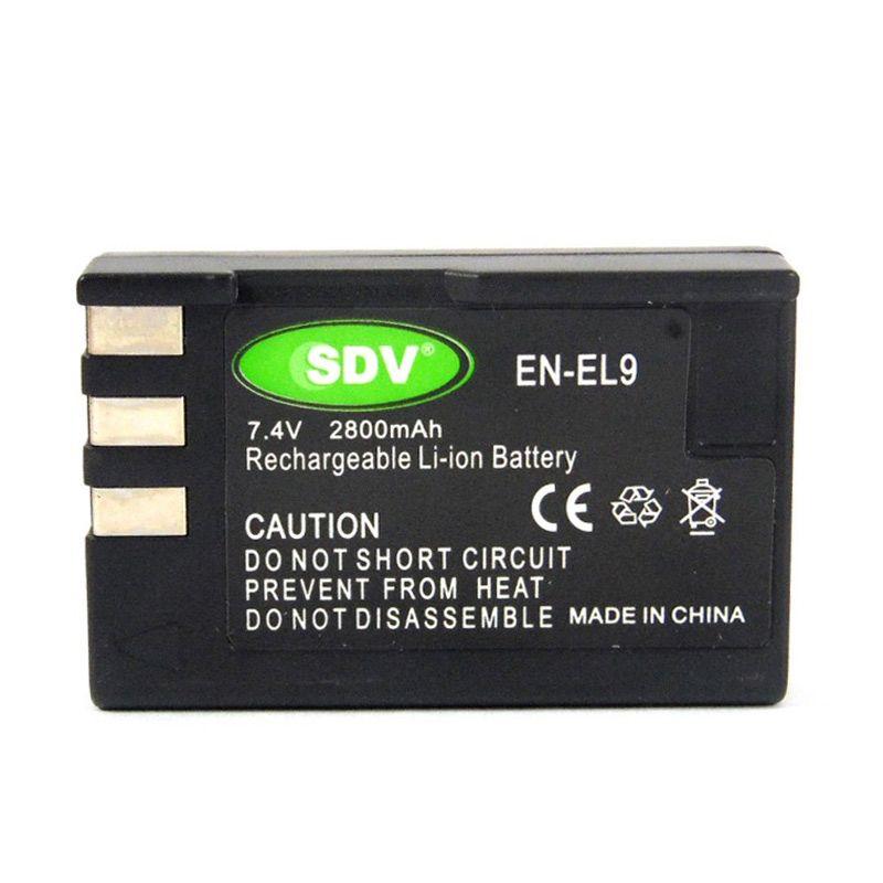 SDV EN-EL9 Hitam Baterai Kamera untuk Nikon [2800 mAh]