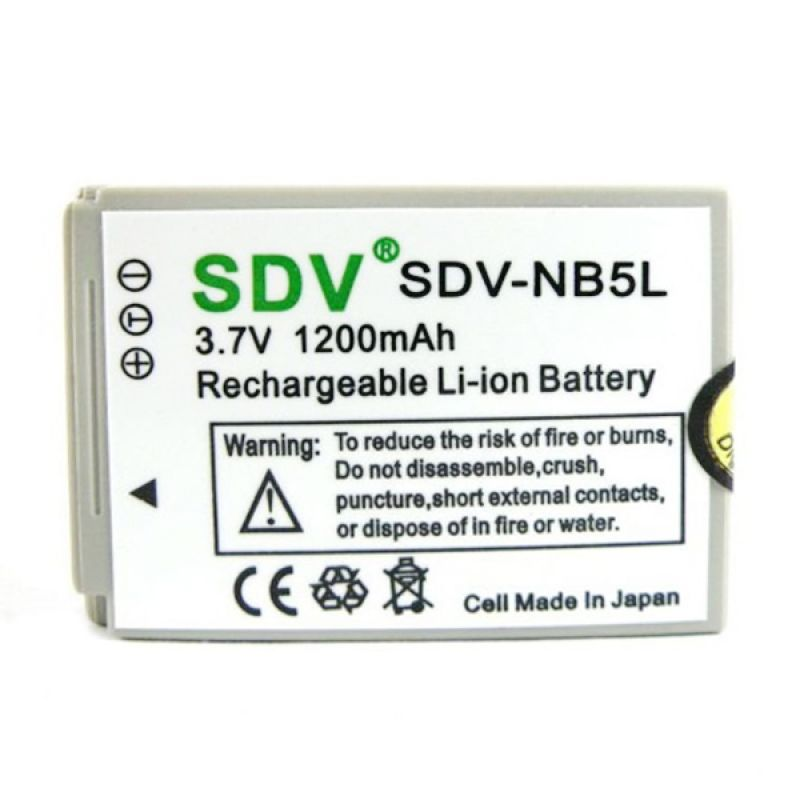 SDV NB-5L Battery For Kamera Canon