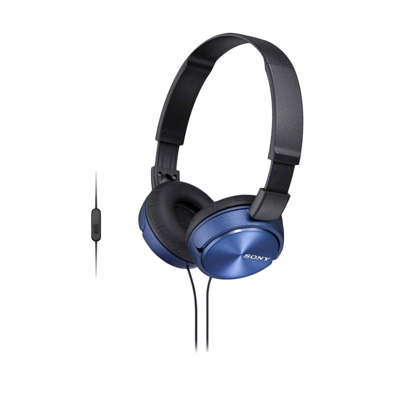 Sony MDR - ZX310AP Biru Headset