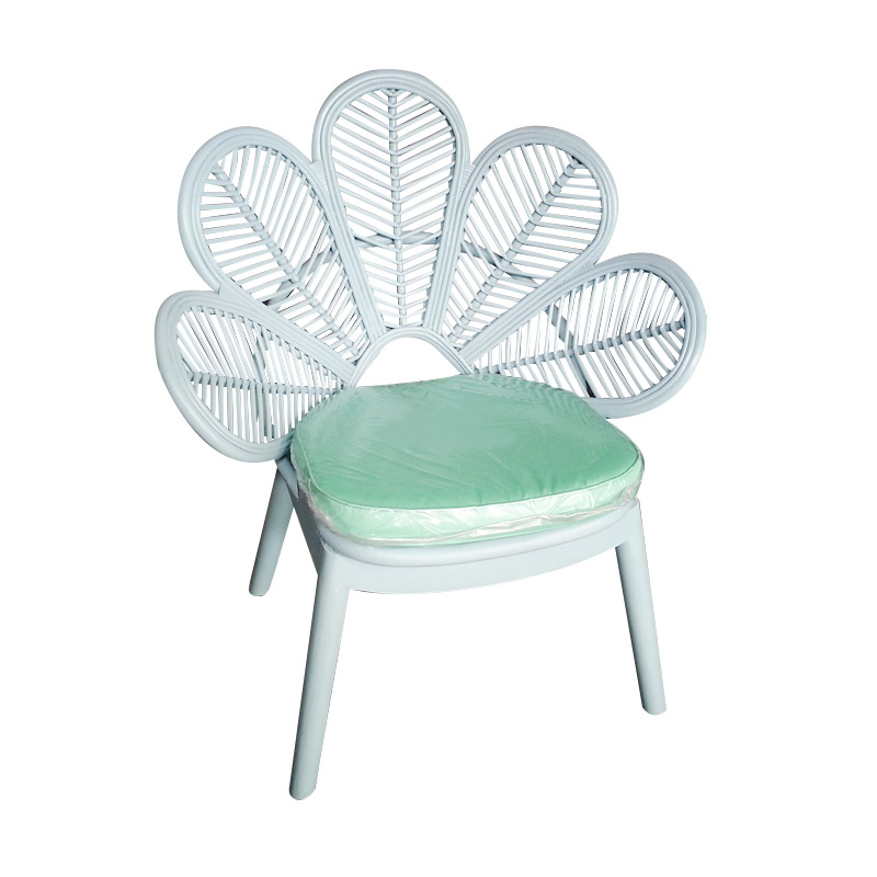 Rotan Kita Flower RTK27 Chair - White