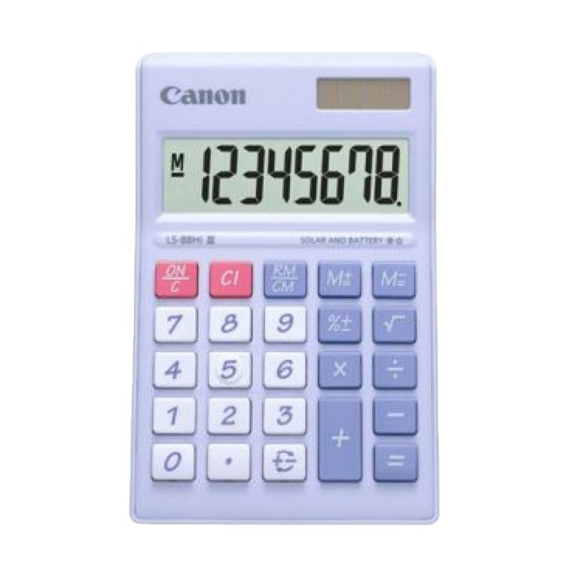 Canon Mini Desktop LS 88 HI III- PPP ASA HB Ungu Pastel Kalkulator